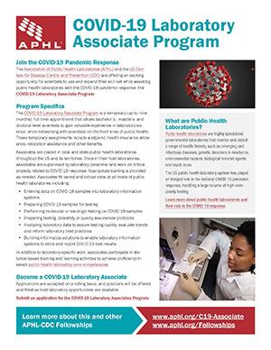 COVID-19 Laboratory Associate Flyer